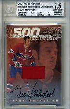01-02 BAP Ultimate Frank Mahovlich 500 Goal Scorers Autograph Auto Jersey 17/25
