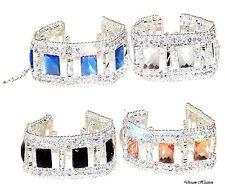 Beautiful Ladies Rhinestone Crystal Diamante / Diamonte Assorted Silver Bracelet