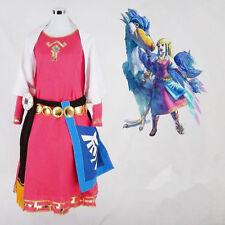 The Legend of Zelda Skyward Sword Zelda Cosplay Costume Dress Princess Zelda:0