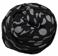 Damen Schal Tuch Stola groß gepunktet Baumwolle & Seide 70X200.