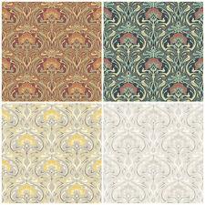 Crown Flora Nouveau - William Morris Style Wallpaper - Vintage Retro Wall Decor