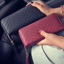 Women Lady Clutch Leather Long Wallet Card Holder Zipper Phone Bag Purse Handbag