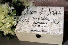 Personalised Wedding Box Sticker, Our Wedding Memories, Make your own Keepsake