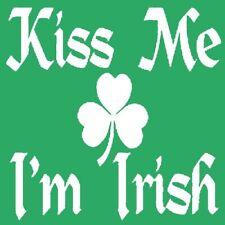 Kiss Me I'm Irish T-shirt St Patricks Day Funny S-3XL