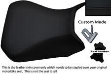 BLACK CUSTOM FITS SUZUKI SV 650 1000 03-12 FRONT LEATHER SEAT COVER