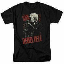 Billy Idol Brick Wall Rebel Yell T Shirt Licensed Rock Band Merchdandise Black
