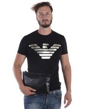Emporio Armani T Shirt Sweatshirt Cotton WITH POCHETTE Man Blk 6Z1TE61J11Z 999