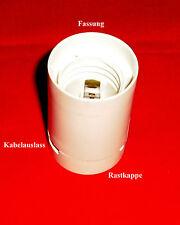 Fassung  Lampenfassung E27 Kunststoff 2teilig