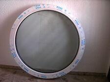 VEKA Rundfenster Festverglasung 90cm 3-fach Verglasung Chinchilla weiss