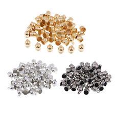 50Pcs Jewelry Findings Tassels End Cap Beads Accessories Making Bracelet