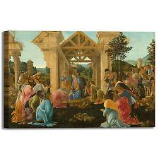 Botticelli adorazione dei magi II quadro stampa tela dipinto telaio arredo casa