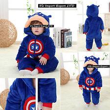 Capitan America Costume Carnevale Calda Tuta Bambino Boy Costume Onesie CABABY01