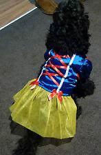 NEW PET DOG PUPPY / CAT SNOW WHITE DISNEY PRINCESS COSTUME DRESS UP OUTFIT