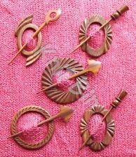 Carved Shesham Wood Shawl Pins; Choice of Designs
