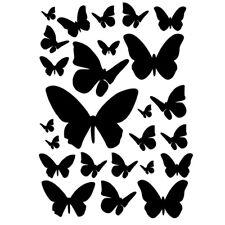 Sticker Planche Papillons 20x15cm, 40x30cm, Tailles et Coloris Divers (PAP002)