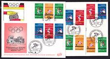 Bund Olympiade 1972 16 verschiedene FDC aus MHB 17 , H-Blatt 22 und Block 8