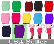 New Women's Girl Slim Stretch Bodycon Bandage Micro Mini Skirt