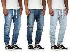 Men's Stretch Slim Drop Crotch Denim Jogger Pants Casual Big & Tall