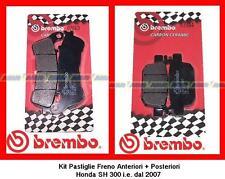 07063 + 07064 Kit Pastiglie Freno Brembo Ant + Post Honda SH 150i dal 2009