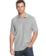 John Ashford Light Grey Heather Pocket Pique Polo Shirt  2XL