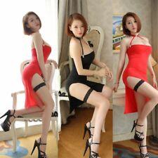 Women's Sexy Sheer Dress Lingerie Choker+Leg Ring Transparent Clubwear Nightwear