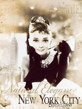 Audrey Hepburn Breakfast at Tiffanys Art Canvas Poster Print Iconic Movie Star