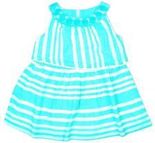 Bebé Niñas Vestido algodón Menta raya floral trim Forrado Prem Recién Nacido -