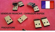 Lot de 5, 10 o 15 Connettori nuovo USB UN maschio 90° da saldare nuove