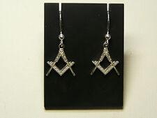 orecchini MASSONERIA  argento 925 squadra e compasso mason earrings