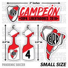 (4) River Plate Campeon Libertadores Argentina Vinyl Sticker Decal Calcomania