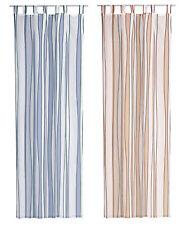 Dekoschal ISA 140 x 245 cm Gardine grau oder weiß Schlaufe oder Universalband