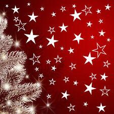 Set 80 Sterne Fensteraufkleber Fenstersticker  Weihnacht  Advent Fensterbilder