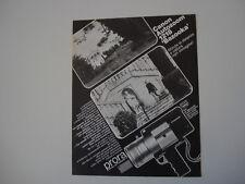 advertising Pubblicità 1968 CANON AUTO ZOOM 1218 BAZOOKA