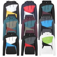 Urban Classics Zig Zag Hoody Sweatshirt Pulli Colorblock Herren Übergröße S -5XL