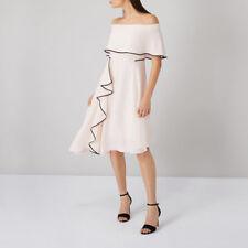 0568528bf40e Coast Ladies Amory Dress Bardot Bias Hem tipped edge, Woven, Shade Blush  Peach