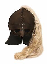 Wikinger Helm mit Hörnern grau-gold-weiss Cod.48330