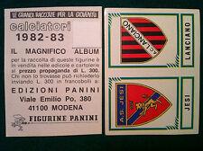 CALCIATORI 1982-83 82-1983 n 587 JESI LANCIANO - Figurina Panini con velina