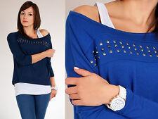 Trendy Jersey con puntillas CUELLO BARCO Kimono Estilo Jersey tamaño 8-12 6524