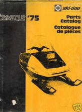 1975 SKI-DOO OLYMPIQUE SNOWMOBILE PARTS MANUAL USED