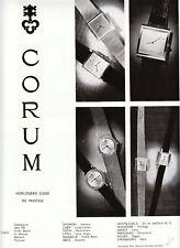 """Publicités """" Montres Corum 1965 """""""