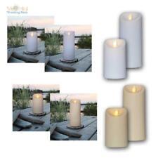 flackernde LED Kerze M-TWINKLE, bewegte Flamme & Timer, für Außen Outdoor Garten