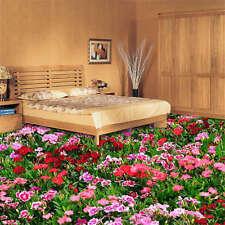 Flower Field Beautiful 3D Floor Mural Photo Flooring Wallpaper Home Wall Decal