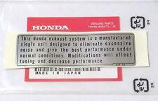 Honda CAUTION EXHAUST LABEL XR80 XR100 XR185 XR200 XR250 XR350 XR500 OEM