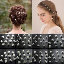 Curlies Haarschmuck Haar Spiralen Nadel Perle Blume Strass Hochzeit Kommunion