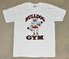 Bulldog Gym Dumbbell Dog Logo Workout Bodybuilding Muscle Shirt M L XL XXL NEW