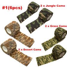 6x 4.5M Army Camo Wrap Rifle Gun Hunting Camouflage Stealth Webbing Tape