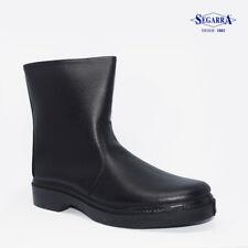 Men's Winter Boots Lined Leather Black UK Size 5 6 7 8 9 10 11 12 Segarra Spain
