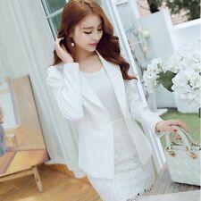 tailleur giacca donna slim corta manica lunga bianco chiaro estate S9015 495424653ef