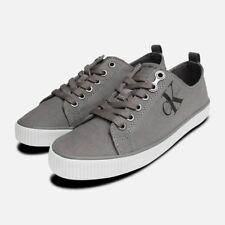 Grey Canvas Dora Sneakers by Calvin Klein Jeans