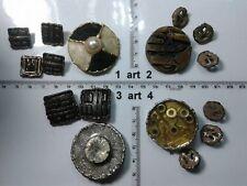 1 lotto bottoni gioiello smalti meccanismo orologio buttons boutons vintage g20
